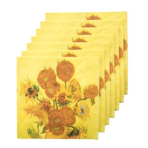 Van Gogh Napkins Sunflowers