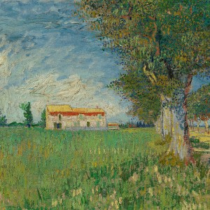 Van Gogh Giclée, Farmhouse in a Wheatfield