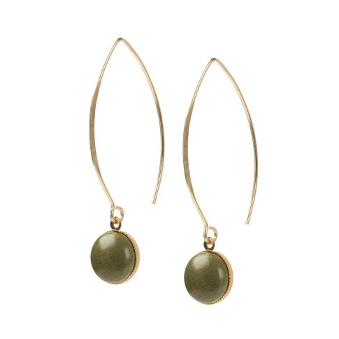Van Gogh Earrings Elipse grey-green, by Ellen Beekmans®