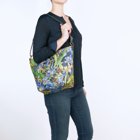 Van Gogh Olalla Gambin® Bag leather & silk Irises