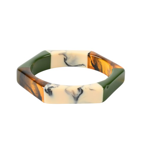 Van Gogh Hexagon bracelet in lacquered resin, by Ellen Beekmans®