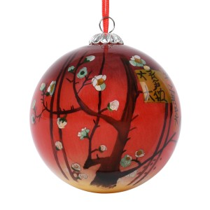 Van Gogh Glass Bauble Plum Tree