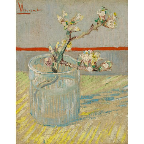 Van Gogh Giclée, Sprig of Flowering Almond in a Glass