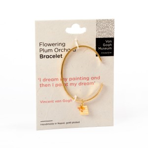 Van Gogh A Beautiful Story® Bangle quote 'I paint my dream'