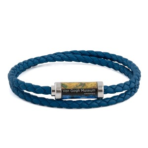 Van Gogh Tateossian® leather braided bracelet blue