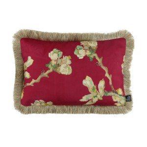 Van Gogh Cushion cover fringed Sprig 30 x 45