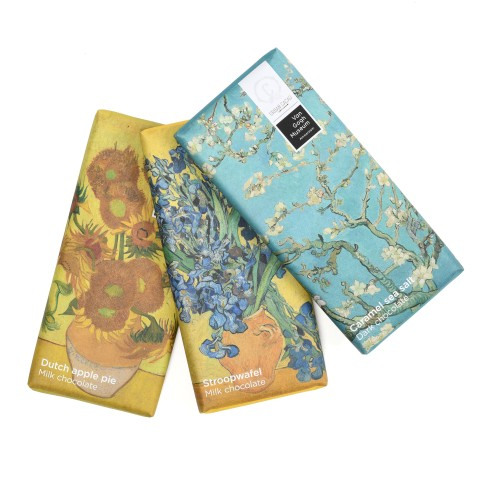 Urban Cacao set of 3 chocolate bars Van Gogh highlights