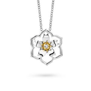 Van Gogh Gassan® Golden pendant with diamond Almond Blossom
