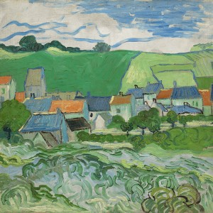 Van Gogh Giclée, View of Auvers