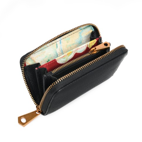 Smaak® Leather wallet Van Gogh Blossom Sprig black