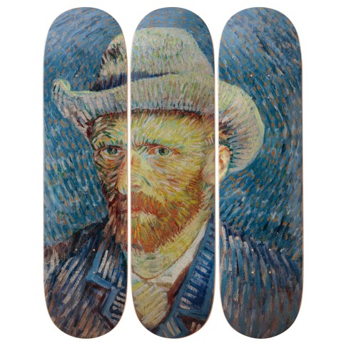 The Skateroom x Van Gogh Museum® Triptych, Self-Portrait with Grey Felt Hat