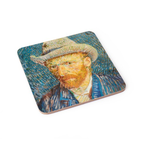 Coaster Self-Portrait with Grey Felt Hat