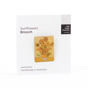 Van Gogh Brooch Sunflowers
