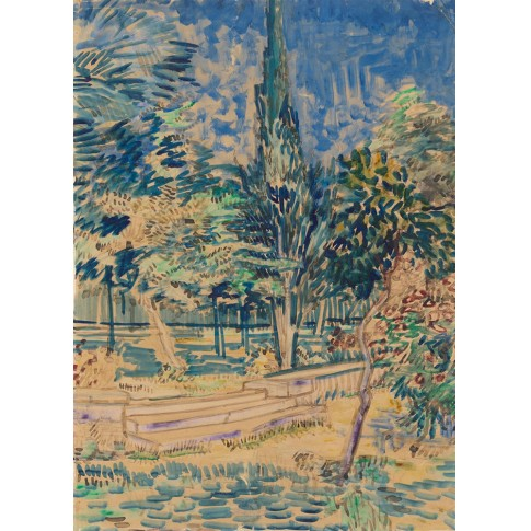 Van Gogh Giclée, Stairs in the Garden of the Asylum