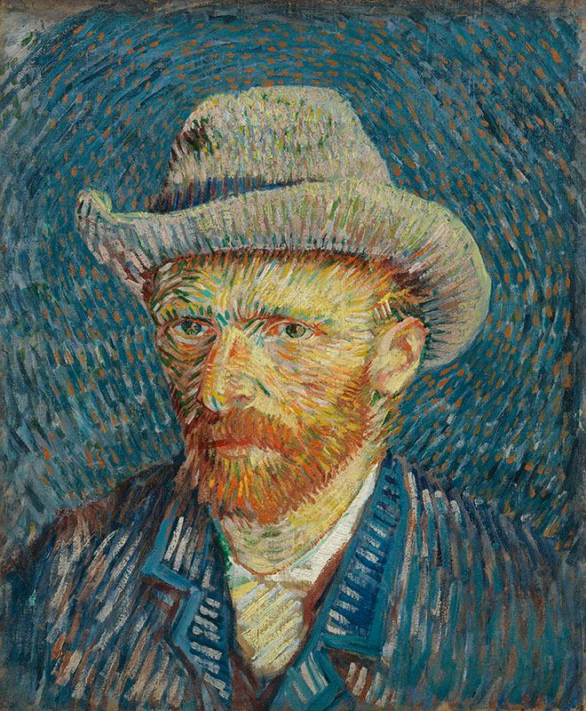 Self Portrait by Vincent Van Gogh Giclee Fine Art Print Reproduction on Canvas