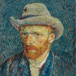 Van Gogh Giclée, Self-Portrait with Grey Felt Hat