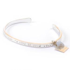 Van Gogh A Beautiful Story® Bangle quote 'Love'