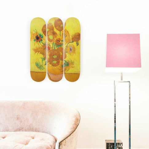 The Skateroom x Van Gogh Museum® Triptych, Sunflowers