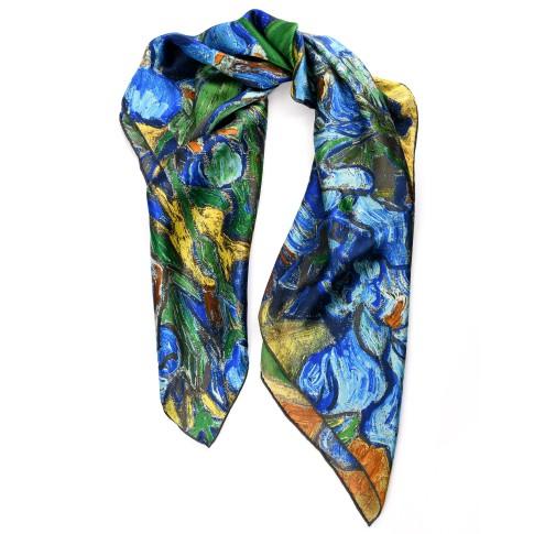 Van Gogh Silk scarf carré Irises