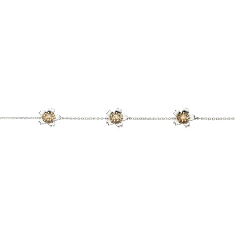 Van Gogh Gassan® Golden bracelet with 5 diamonds Almond Blossom
