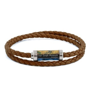 Van Gogh Tateossian® leather braided bracelet brown