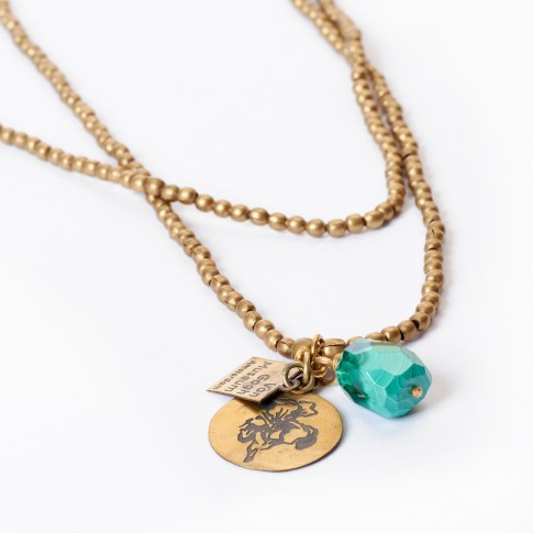Van Gogh A Beautiful Story® Necklace Irises with gemstone