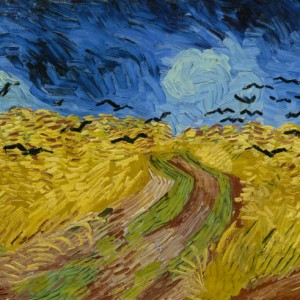 Van Gogh Postcard  Wheatfield with Crows