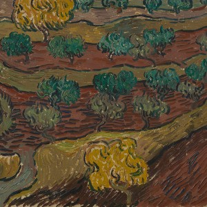 Van Gogh Giclée, Olive Trees on a Hillside