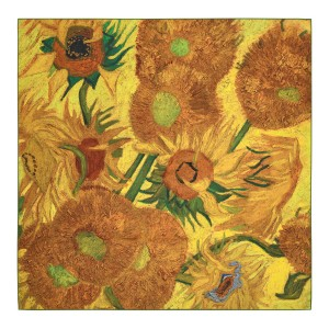 Van Gogh Luxury silk twill scarf Sunflowers