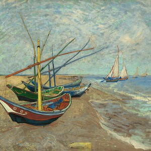 Van Gogh Giclée, Fishing Boats on the Beach at Les Saintes-Maries-de-la-Mer