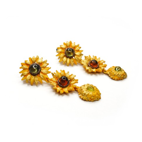 Van Gogh Michael Michaud® Drop earrings Sunflowers