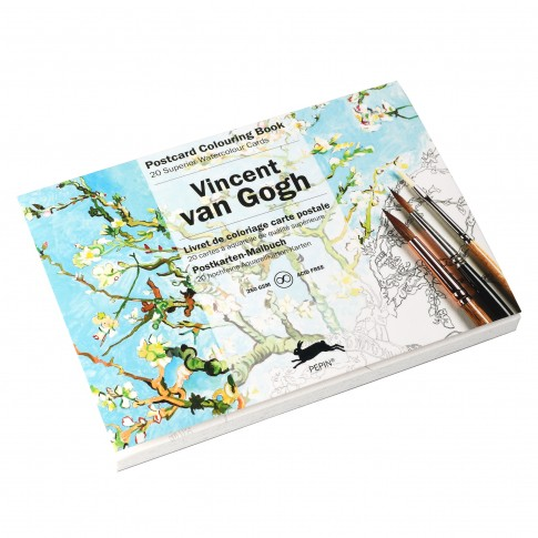 Van Gogh Postcard colouring book