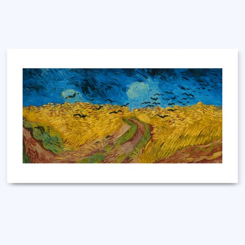 Print XL Wheatfield with Crows