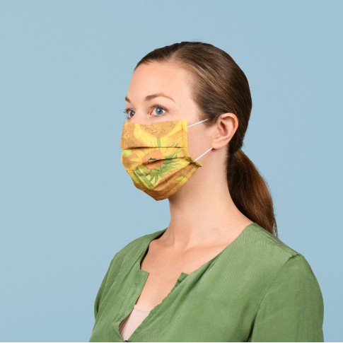 Face mask Van Gogh Sunflowers