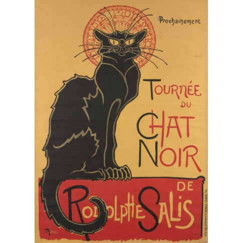 Poster for the tour of Le Chat Noir