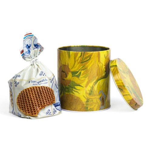 Van Gogh Syrup waffles in a tin