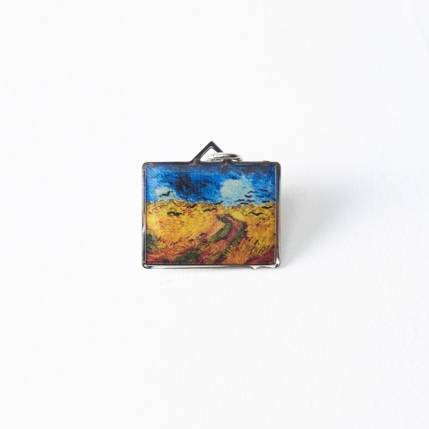 Van Gogh Charm Wheatfield with Crows