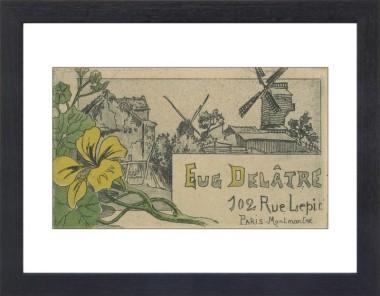 Business card of printmaker printer eugne deltre van gogh museum paper frame black reheart Gallery