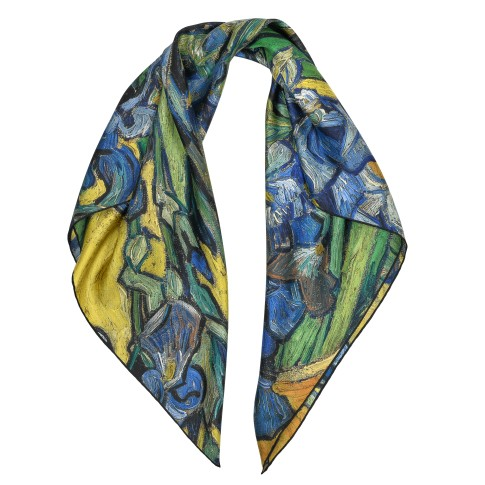 Van Gogh Luxury silk twill scarf Irises