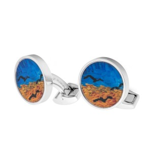 Van Gogh Tateossian® cufflinks round Crows