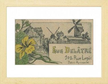 Business card of printmaker printer eugne deltre van gogh museum paper frame blanc reheart Gallery