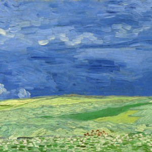 Van Gogh Postcard  Wheatfield under Thunderclouds