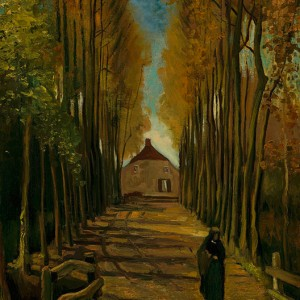Van Gogh Giclée, Avenue of Poplars in Autumn