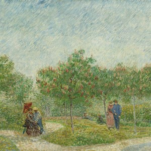 Van Gogh Postcard  Courting couples