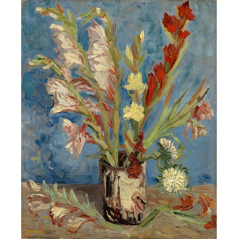 Van Gogh Giclée, Vase with Gladioli and Chinese Asters