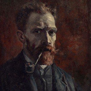 Van Gogh Giclée, Self-Portrait with Pipe