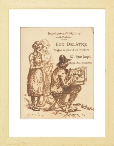 Visiting card of the printer eugne deltre van gogh museum shop paper frame blanc reheart Gallery