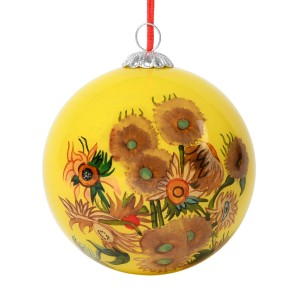 Van Gogh Glass Bauble Sunflowers