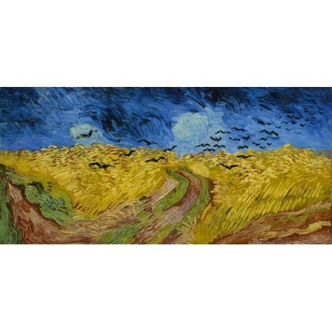 Van Gogh Card Wheatfield with Crows
