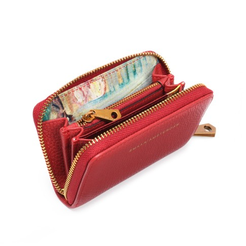 Smaak® Leather wallet Van Gogh Blossom Sprig red